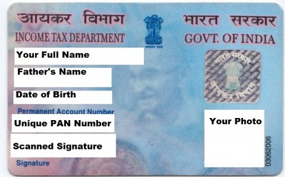 apply for Changes and Corrections in pan card offline and online in India